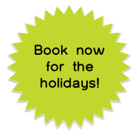 Book now for the holidays!